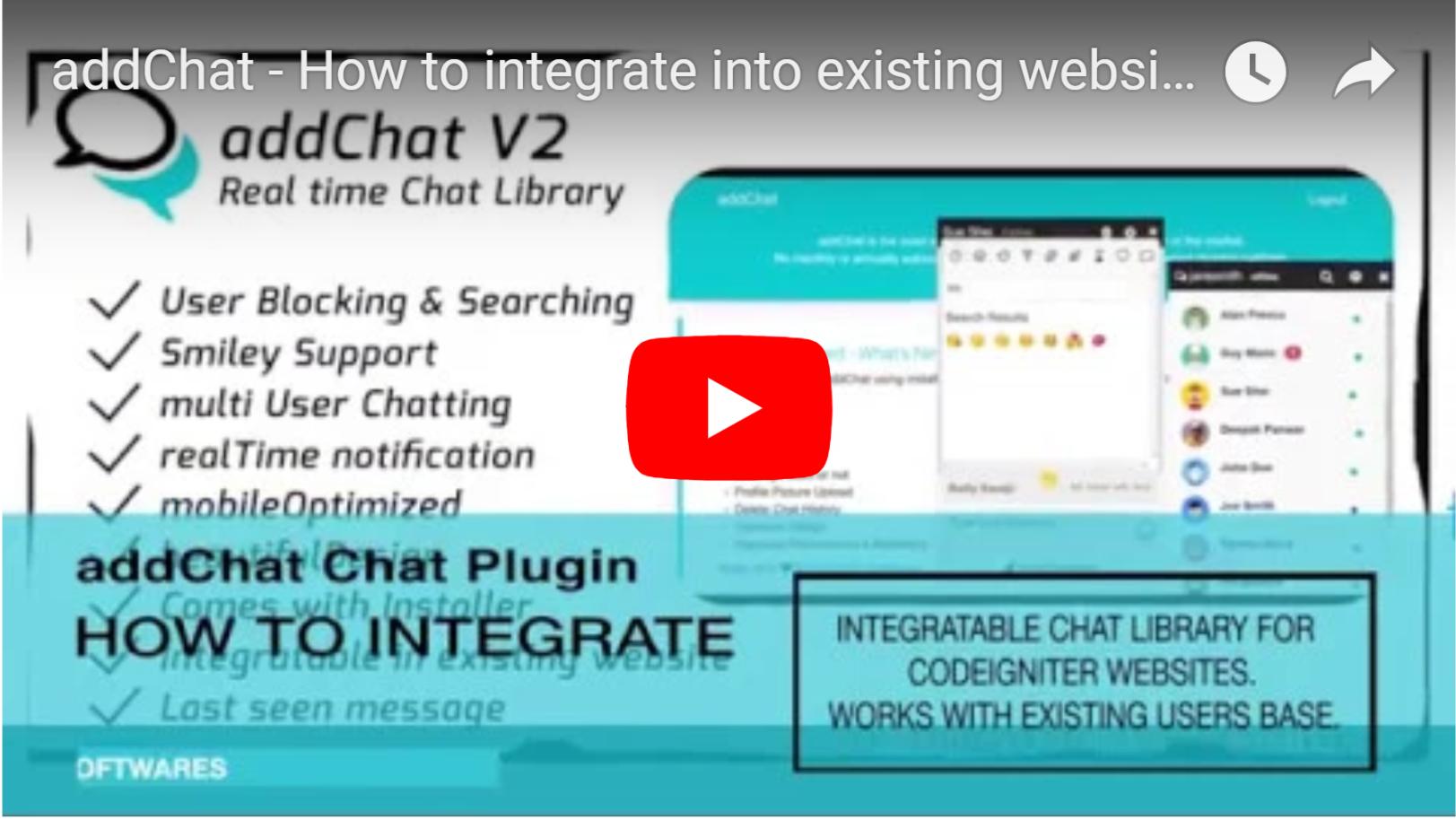 AddChat - Codeigniter Chat Widget - 5